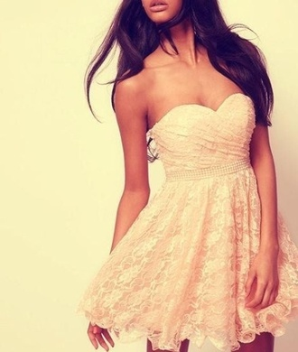 dress lace dress white dress tan dress