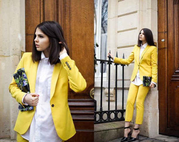 jumpsuit yellow pantsuit