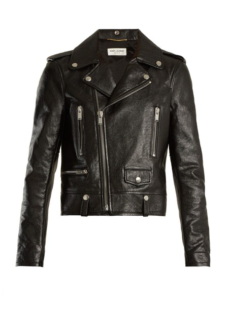 Saint Laurent jacket biker jacket classic leather black