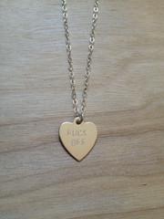 FUCK OFF Heart Necklace - Sterling Silver – Bunnies In LA