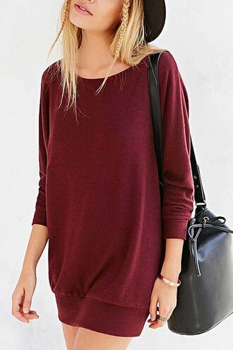 blouse dress batwing casual hipster red black back to school back to school. summer sammy dress