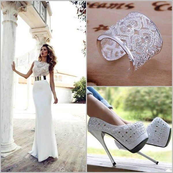 shoes high heels sparkly heels white wedding shoes dress jewels