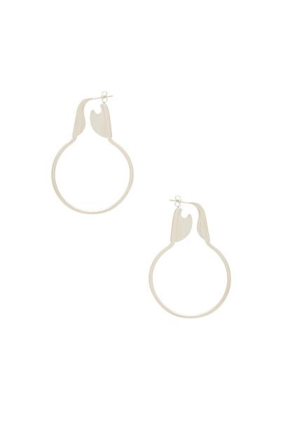 joolz by Martha Calvo earrings hoop earrings metallic silver jewels