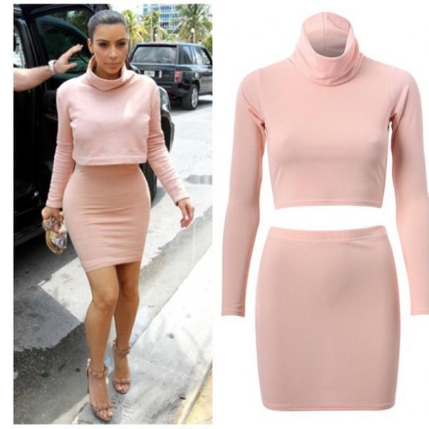 dress, blushing crop set, kim kardashian, rihanna, fashion, spring ...