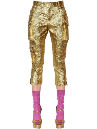 pants cropped pants cropped gold
