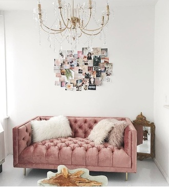 home accessory couch dusty dusty pink rose pink home furniture home decor