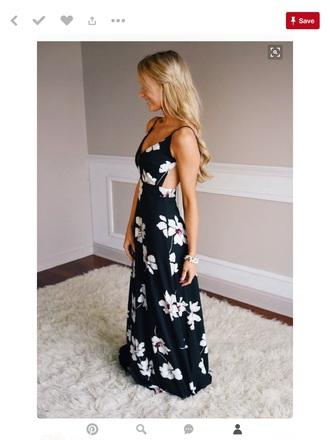 dress navy floral maxi dress cut-out back maxi dress floral dress cut-out