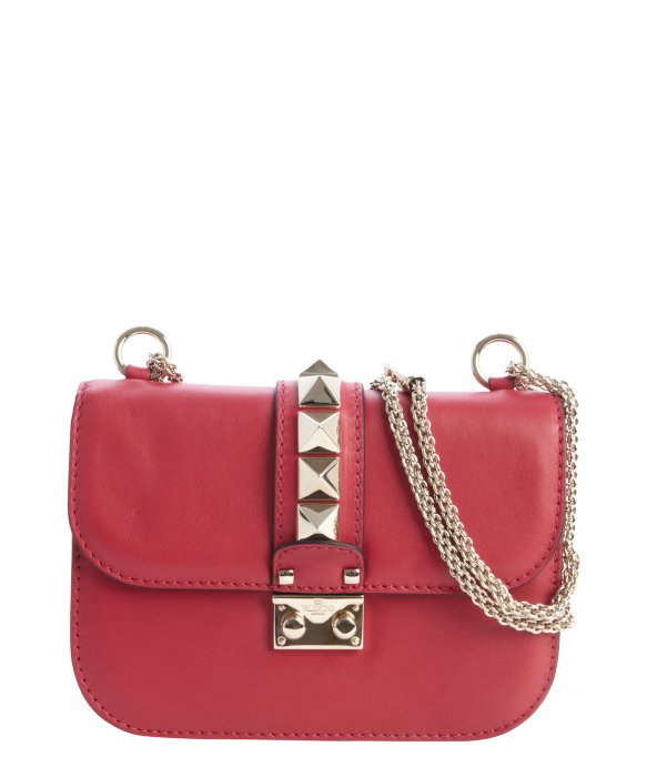 Valentino red leather studded