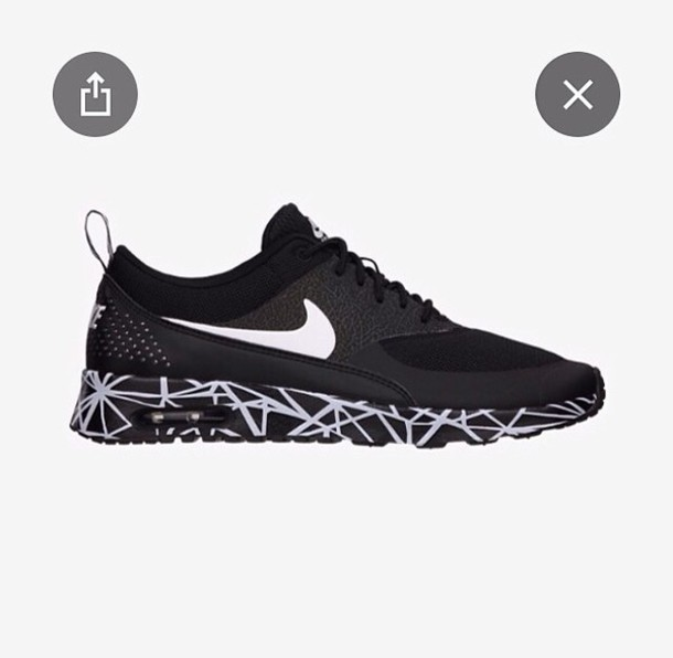 shoes nike air max nike air max the women's nike air max thea black and white women air max nike sneakers black sneakers