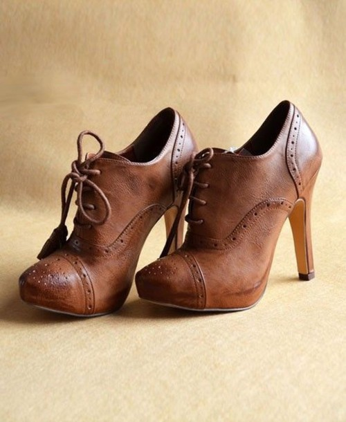 pumps shoes oxford heels brown timeless antique antique style boots vintage boots