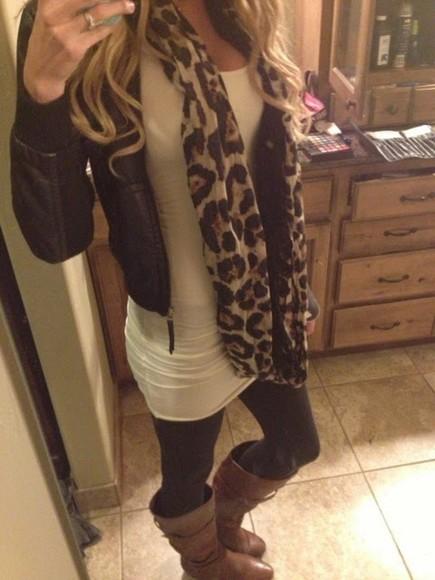 top white top cute long top scarf