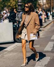 shoes,pumps,balenciaga,high heel pumps,blazer,oversized,blouse,mini skirt,sunglasses