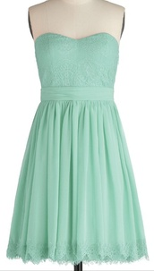 dress,the color is mint green