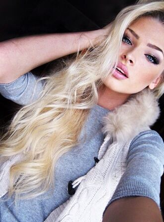make-up alena shishkova pink blonde hair 2014 full length forever hill model heart ball sparkle sequins