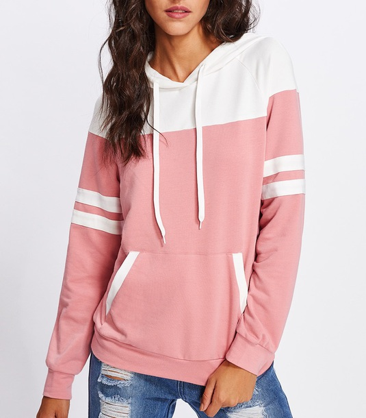 sweater girly sweatshirt hoodie pink white