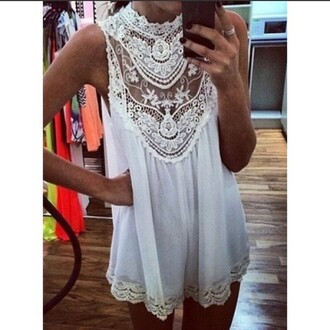 dress white girl pretty lace dress white dress party sress cute dress summer dress sexy dress short dress lace white lace dress see through see through dress style fashion girly dress girly outfits tumblr summer summer outfits jewels jewelry hand jewelry ring rings and tings silver ring flowy flowy dress beautiful trendy nail polish nails black nail polish sleeveless sleeveless dress collared dress collar clothes white lace lace up sexy sexy short dresses