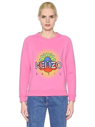 sweatshirt sun cotton pink sweater