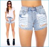 shorts,High waisted shorts,vintage levi's shorts,jean shorts. short shorts. blue