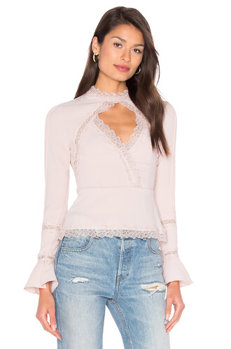 top lace top lace blush