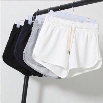 shorts mini shorts black grey white clothes cute athletic comfy navy dolphin shorts white shorts grey shorts black shorts tumblr short shorts sweat shorts blue sweats girl