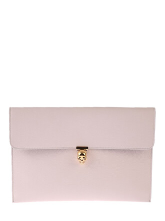leather clutch skull clutch leather white bag