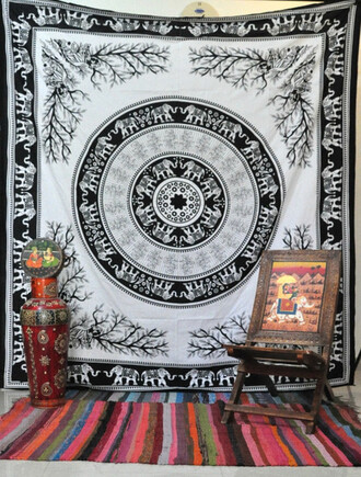 home accessory bohemian hippie tapestry psychedelic wall tapestries elephant tassel bedcover home decor decoration party blanket burning man thorw sofa cover table runner elephant bedsheet hippie wall hanging