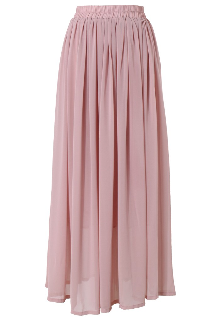 Pink Maxi Skirt - Retro, Indie and Unique Fashion