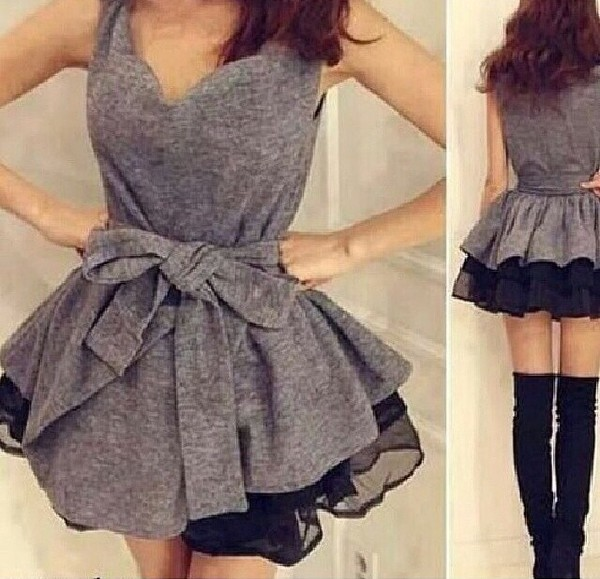 grey dress grey dress short dress