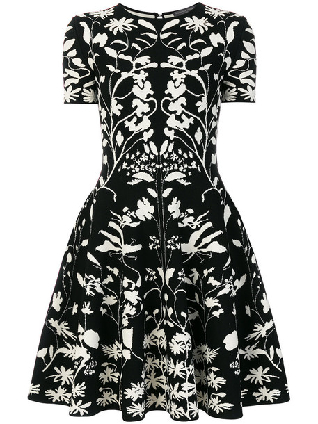 Alexander Mcqueen dress women spandex black