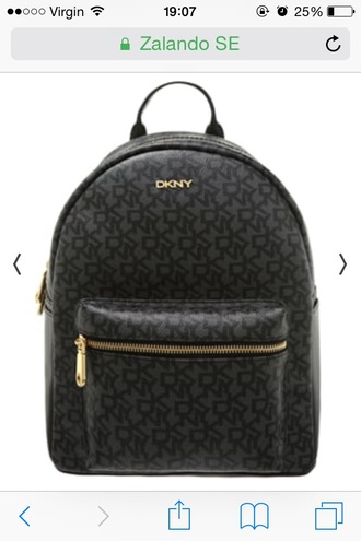 bag dkny patterned bag designer bag black black bag backpack black backpack zalando