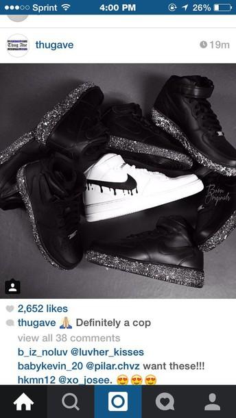 shoes black sneakers nike sneakers