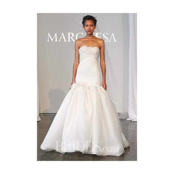dress wedding dress floral-embroidered gazar skirt high-low dresses marchesa black dress