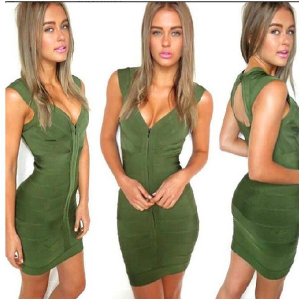 dress bandage dress green dress
