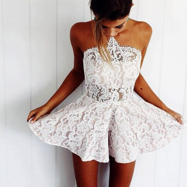 Dress White Lace White Lace See Through See Through Dress See