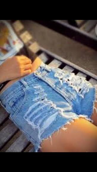 ripped denim blue denim clothes distressed shorts short shorts