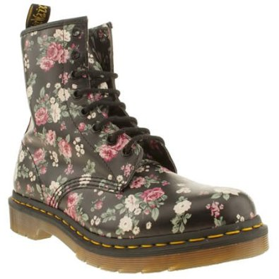 Dr Martens Womens Dm 8 Eye Vintage Rose Boot Boots: Amazon.co.uk: Shoes & Bags