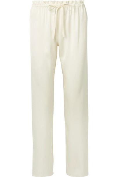 The Row pants silk satin