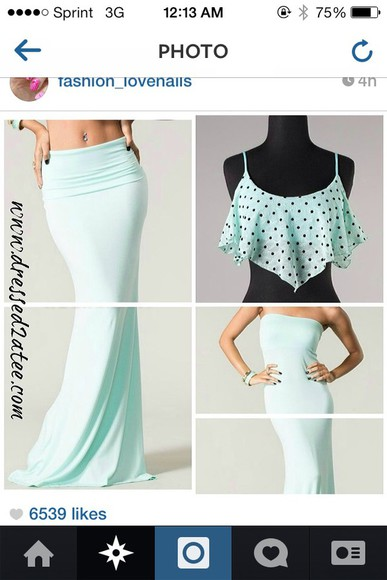 blouse crop tops top fashion cute polka dots mint summer outfits tumblr tumblr clothes tumblr girl clothes tank top style fun