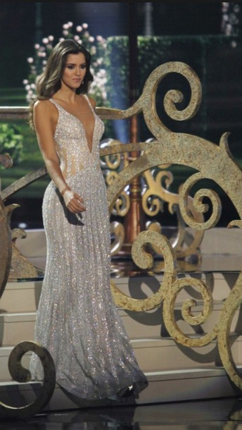 dress miss colombia sparkly dresss