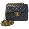 Timeless leather crossbody bag chanel black