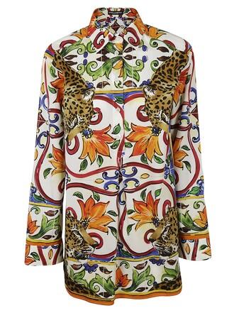 shirt print leopard print top
