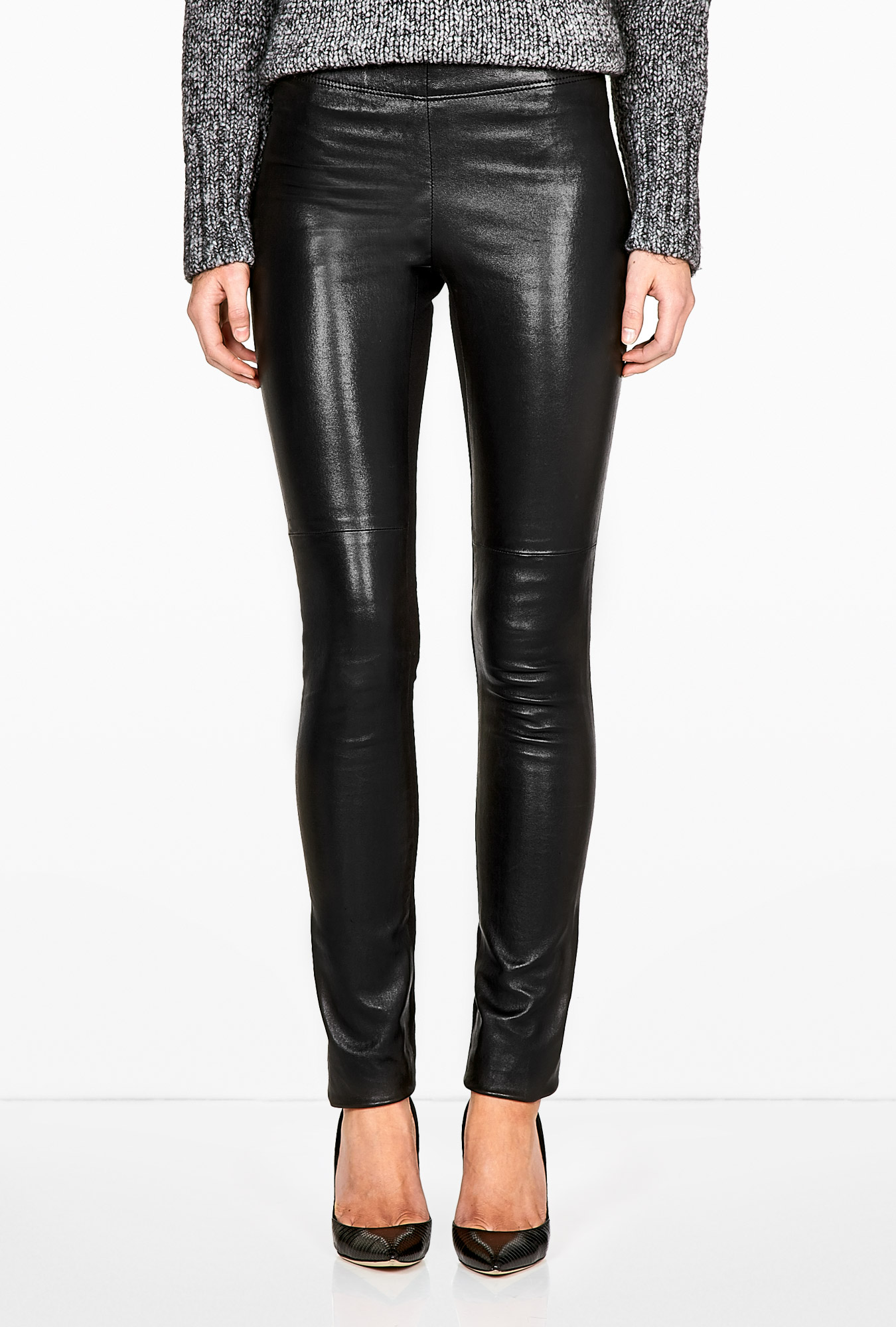 Stretch leather leggings Joseph