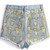Blue Fringe Simpson Print Denim Shorts -SheIn(Sheinside)