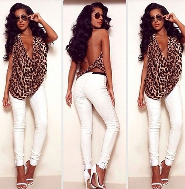 tank top animal print animal print halter top leopard print halter top clothes shoes