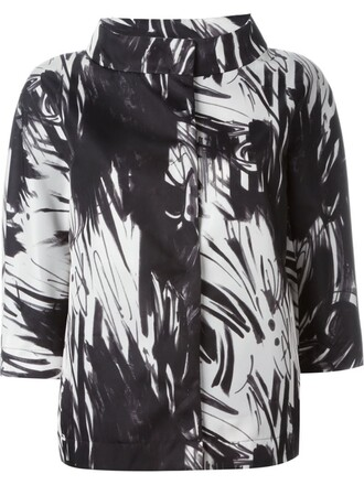 jacket printed jacket black