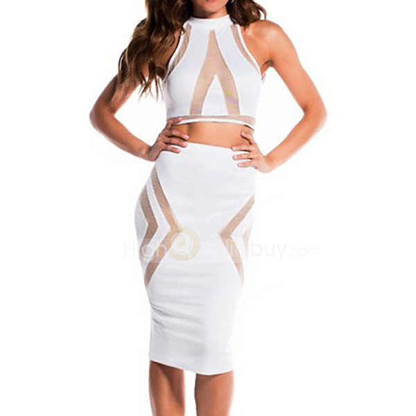 Sexy see through mesh two piece white skirt set with top_18.69
