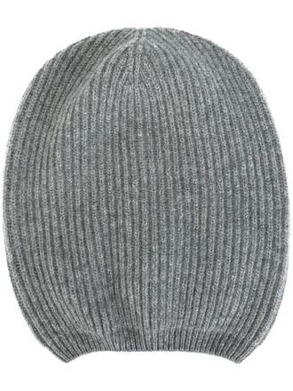 women hat beanie wool grey