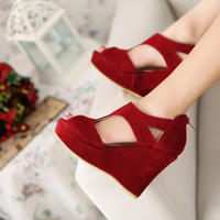 Red Wedge Heels Fashion Sandals 2012