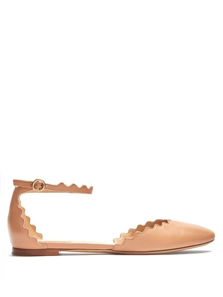 Chloe flats leather flats leather nude shoes