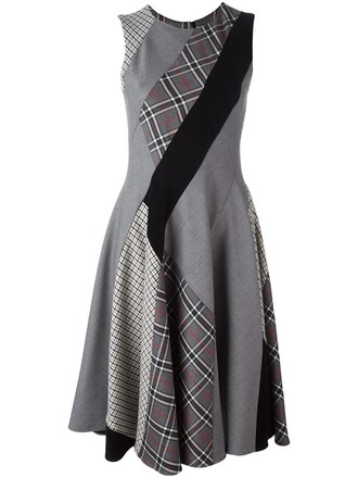 dress women spandex wool grey